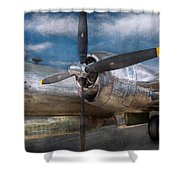 Pilot - Plane - The B-29 Superfortress Shower Curtain by Mike Savad