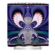 Pink And Blue Guardian Angel Fractal 99 Shower Curtain by Rose Santuci-Sofranko