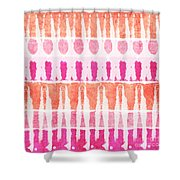 Pink And Orange Tie Dye Shower Curtain by Linda Woods