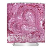 Pink Color Of Energy Shower Curtain by Ania M Milo