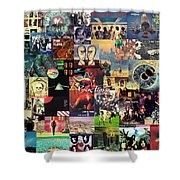 Pink Floyd Collage II Shower Curtain by Taylan Soyturk