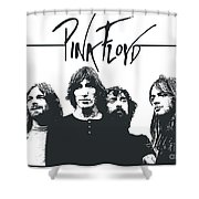 Pink Floyd No.05 Shower Curtain by Caio Caldas