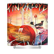 Pink Floyd The Wall Shower Curtain by Joshua Morton