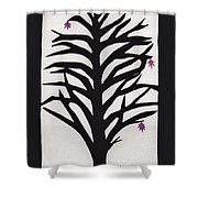 Pink Leaf Maple Shower Curtain by Barbara St Jean