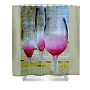 Pink Summer Shower Curtain by Ben and Raisa Gertsberg