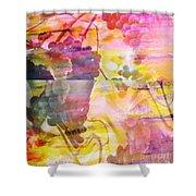 PINK VINEYARD PLUMPS Shower Curtain by PainterArtist FIN