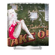 Pinup Girl - Aircraft Nose Art - Take Off Anne Shower Curtain by Gary Heller