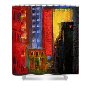 Pioneer Square Alleyway Shower Curtain by David Patterson