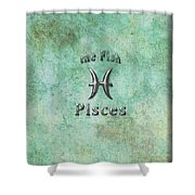 Pisces Feb 19 To March 20 Shower Curtain by Fran Riley