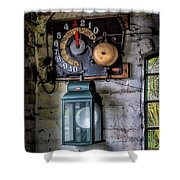 Pit Lift Control Shower Curtain by Adrian Evans