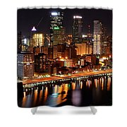 Pittsburgh Panorama Shower Curtain by Frozen in Time Fine Art Photography