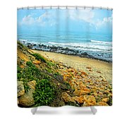 Place To Remember Shower Curtain by Lourry Legarde