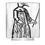 PLAGUE COSTUME, 1720 Shower Curtain by Granger