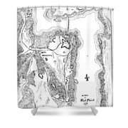 PLAN OF WEST POINT, 1779 Shower Curtain by Granger