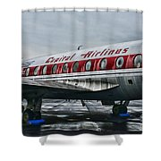 Plane Obsolete Capital Airlines Shower Curtain by Paul Ward