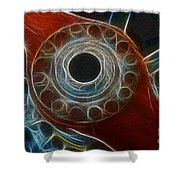 Plane Old Wooden Prop Shower Curtain by Paul Ward