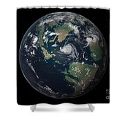 Planet Earth 90 Million Years Ago Shower Curtain by Walter Myers