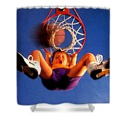 Playing Basketball Shower Curtain by Lanjee Chee