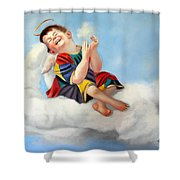 Playing On The Job Shower Curtain by Anthony Falbo