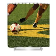 Plays On The Ball Shower Curtain by Laddie Halupa