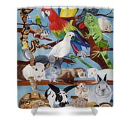 Pocket Pets Shower Curtain by Debbie LaFrance