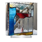 Poet windowsill Box - other view Shower Curtain by Karin Thue