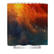 Points Of Light Abstract Art By Sharon Cummings Shower Curtain by Sharon Cummings