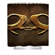 Police - Handcuffs Aren't Always A Bad Thing Shower Curtain by Mike Savad