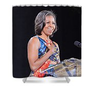 Political Ralley Shower Curtain by Ava Reaves
