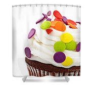 Polka Dot Cupcake Shower Curtain by Andee Design