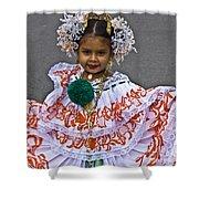 Pollera Costume Shower Curtain by Heiko Koehrer-Wagner