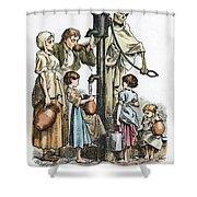 Pollution Cartoon, 1866 Shower Curtain by Granger