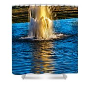 Pond Fountain Shower Curtain by Robert Bales