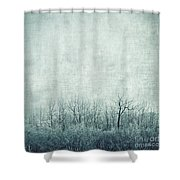 Pondering Silence Shower Curtain by Priska Wettstein