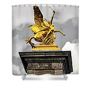 Pont Alexander IIi Fragment In Paris Shower Curtain by Elena Elisseeva