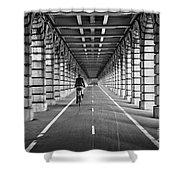 Pont De Bercy Shower Curtain by Delphimages Photo Creations