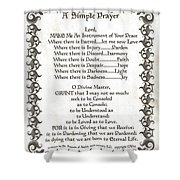Pope Francis St. Francis SIMPLE PRAYER Faith on Fleury Shower Curtain by Desiderata Gallery
