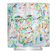Pope Francis Watercolor Portrait Shower Curtain by Fabrizio Cassetta