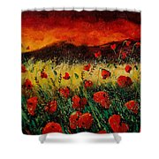 Poppies 68 Shower Curtain by Pol Ledent