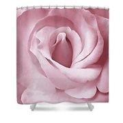 Porcelain Pink Rose Flower Shower Curtain by Jennie Marie Schell