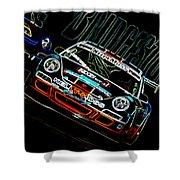 Porsche 911 Racing Shower Curtain by Sebastian Musial