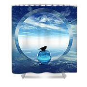 Portal To Peace Shower Curtain by Richard Rizzo