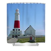 Portland Bill Lighthouse Shower Curtain by Terri  Waters