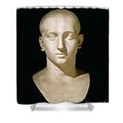 Portrait Bust Of Emperor Severus Alexander Shower Curtain by Anonymous