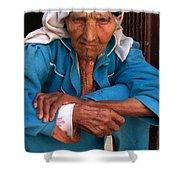 Portrait Of A Berber Woman Shower Curtain by Ralph A  Ledergerber-Photography