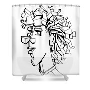 Portrait Of A Man Shower Curtain by Michelle Calkins