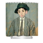 Portrait Of Charles Dikran Kelekian Shower Curtain by Mary Stevenson Cassatt