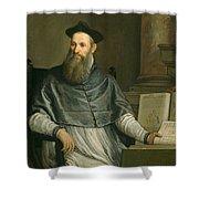 Portrait Of Daniele Barbaro Shower Curtain by Paolo Caliari Veronese
