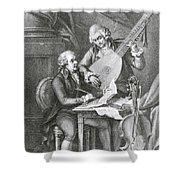 Portrait Of Franz Joseph Haydn Shower Curtain by John Francis Rigaud