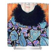 Portrait of Johanna Staude Shower Curtain by Gustav Klimt